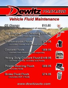 Eau Claire Oil Change, Transmission Flush, Coolant Flush, Fuel Cleaning